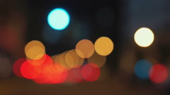 Big city night traffic bokeh - real camera defocused blur - Asia Traffic Stock Footage