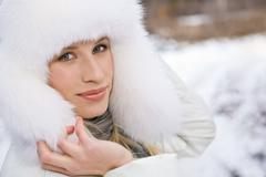 Winter glam - stock photo