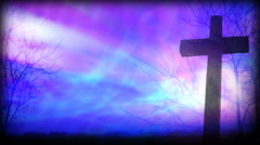 Blue and Purple Cross 1080  background Stock Footage