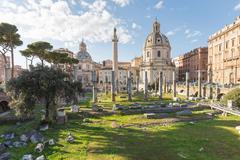 The Trajan's Forum (Foro Di Traiano) in Rome, Italy Stock Photos