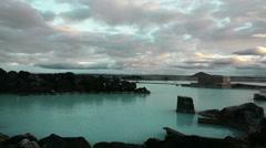 Iceland Myvatn Nature Baths Slowed Stock Footage