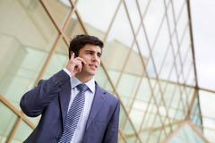 Telephone conversation Stock Photos