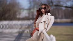 Beautiful Girl in Sunglasses Stock Footage