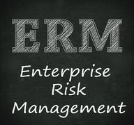Stock Illustration of Chalkboard illustration of erm - enterprise risk management