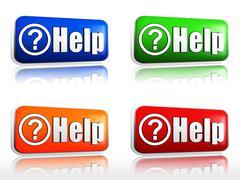 Help - stock illustration