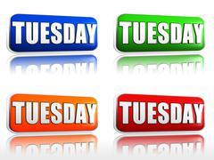Tuesday Stock Illustration