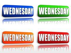 Wednesday Stock Illustration