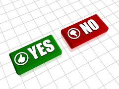 Yes and No Stock Illustration