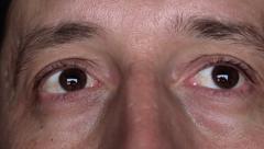 Adult Male Eyes Watching, Eye Movement Stock Footage