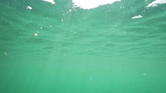 Sea waves below the surface of the sea in slow motion Stock Footage