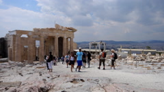 The Propylaea.  Athens Acropolis Stock Footage