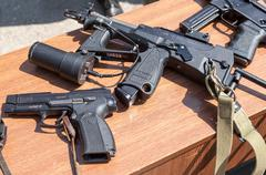 Russian weapons - stock photo