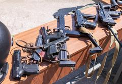 Stock Photo of Russian weapons. Samples of Russian small arms
