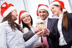 Christmas cheers Stock Photos