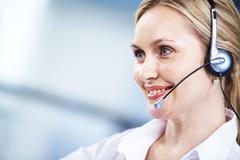 Customer support representative Stock Photos