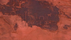 Wall art in Valley of Fire Stock Footage