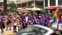 Participants of the Miami Beach Gay Pride Festival Parade. Stock Footage