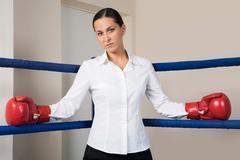 Bossy woman Stock Photos
