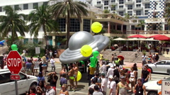 7th annual Parade of the Miami Beach Gay Pride Festival. Stock Footage