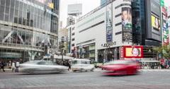 Busy TOKYO Crossing from roadside Stock Footage