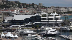 Film festival hall, Cannes, France - stock footage