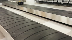 Luggage track at an airport Stock Footage