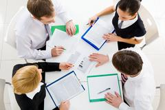 Corporate work Stock Photos