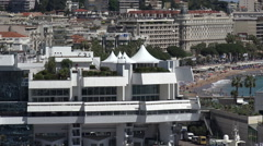 Palais des Festivals et des Congres building, Cannes, France Stock Footage