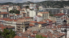 View of buildings and rooftops of Cannes Old town, France Stock Footage