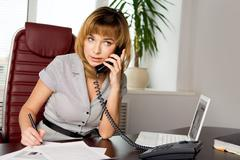 Arranging an appointment - stock photo