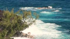Pristine blue waters of Hawaii.  - stock footage