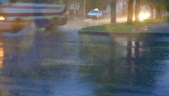 Traffic in heavy rain, bad non-flying weather 004 Stock Footage