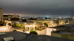 San Francisco night-time roof-top time-lapse. Stock Footage