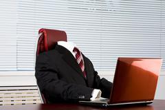 Absent boss - stock photo