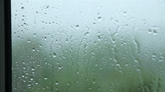 Rain on glass Stock Footage