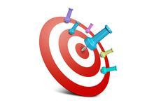 Stock Photo of Successful and Failure Dart Shots