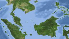 Malaysia on maps - Do It Yourself as you like. Neighbourhood Stock Footage