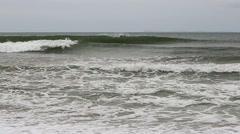 Sea waves crashing on the shore Stock Footage