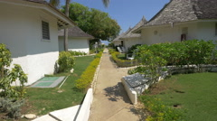 Great view with a hotel bungalows in Jamaica Stock Footage