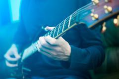 Electric guitar player Stock Photos