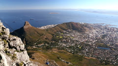 South Africa Cape Town Table Mountain Cable Car Arkistovideo
