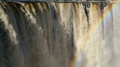 Victoria Falls Waterfall Africa River Zimbabwe National Park Stock Footage