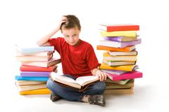 Youthful reader - stock photo