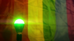 gay flag symbolism homosexual - stock footage