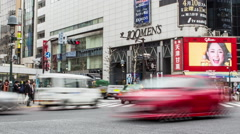 Japan Crossroads Shibuya Street Level Stock Footage