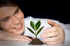 Cultivation of plant - stock photo