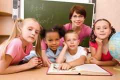 Explanation of lesson Stock Photos