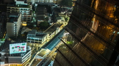 Bangkok Stunning Time Lapse Reflections Stock Footage
