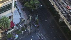 Bangkok Street Scene Time Lapse Stock Footage