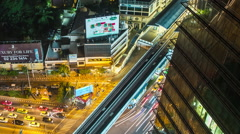 Bangkok City Streets Time Lapse Pan Stock Footage